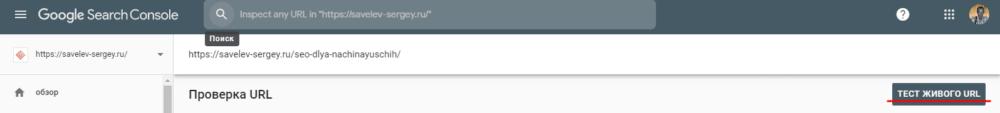 тест URL