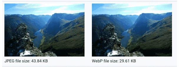 Изображения с потерями в WebP на 25-34% меньше сопоставимых изображений JPEG