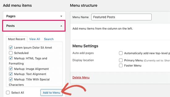 Как добавить избранные сообщения в боковую панель WordPress