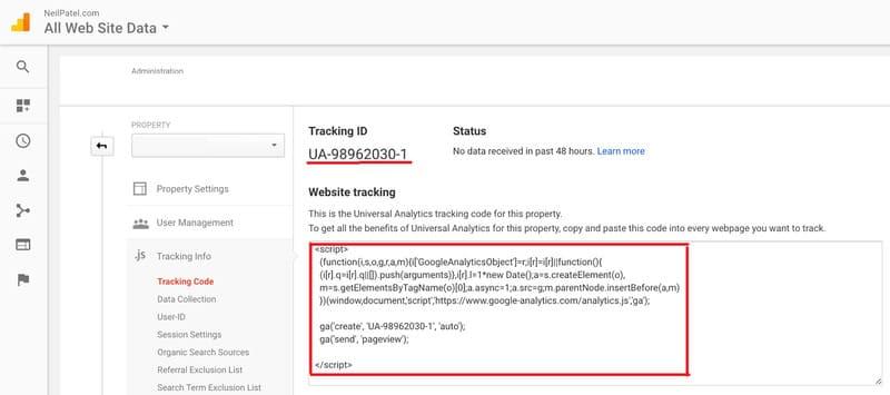 установить Google Analytics